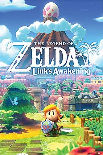 Close Up Póster The Legend of Zelda - Link's Awakening (61cm x 91,5cm) + 1 Paquete de tesa Powerstrips® (20 Tiras)