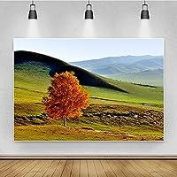 写真撮影の写真の背景秋の葉風景をテーマにした肖像画新生児の赤ちゃんの結婚式のビニール生地の写真の背景 (Color : Green5, Size : 6x4ft)