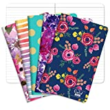 Pocket Notebook/Journal - 5'x8' - Assorted Patterns - Lined Memo Field Note Book - Pack of 5