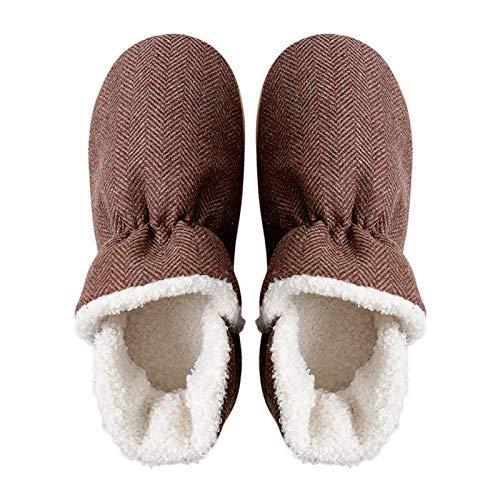 Mujeres Fluffy Boots Zapatillas Memoria Espuma Suave Inferior Traspa Zapatillas De Algodón Botas Hombres Y Mujeres Hogar Sin Deslizamiento Inicio Parejas Peluche Caliente Caliente Zapatillas Zhenzhiya