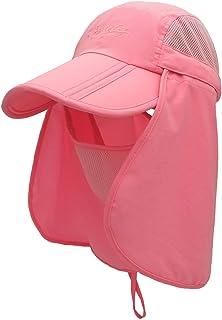 قبعة Jastore للأطفال الأولاد والبنات للحماية من الشمس خفيفة الوزن شبكة رفرف كاب سريعة الجفاف انفصال قناع قبعة
