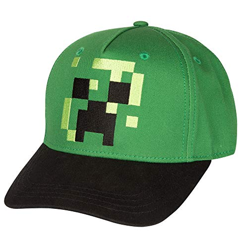 Jinx 10368 Minecraft Pixel Creeper Youth Snap Back Hat