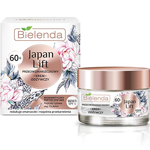 Bielenda Japan Lift - Nourishing Anti-Wrinkle Day Cream Skin Is Smooth, Firm, Nicely Taut Well, Hydrated - Japan Lift Nourishing Antiwrinkle Face Cream 60+ Day Spf 6-50 ml