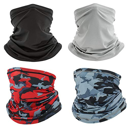 4 Pack Cooling Neck Gaiter Bandana Face dust Mask,Cycling Half face mask Washable for Men Women Summer