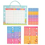 pneat Good Behavior Chart | Chore Chart | Magnetic Responsibility Chart for Wall or Refrigerator | 51 Chores 60 Magnetic Stars | Chore Charts for Kids | Reward Chart