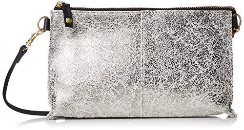 [イコット] ウォレットショルダー クラッキング お財布ショルダーバッグ Silver×White