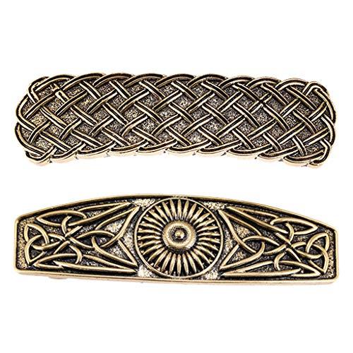 Milageto 2x Barettes Celtic Metal Hair Clip Perfect Hair Accessories