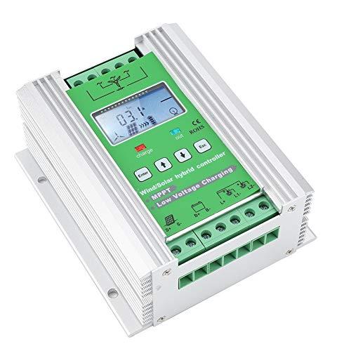 Générique Contrôleur de Charge Hybride Solaire du Vent, Boost MPPT Contrôleur Hybride Solaire du Vent Auto avec écran LCD Contrôleur Hybride de Charge de vidage(JW2480)