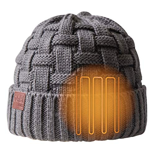 Crest Women's 2 Zone Heated Beanie | 7.5 hours of heat | Heated Hat | With Battery & Charger | Machine Washable | All Day Warmth