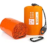 Bearhard Emergency Sleeping Bag Emergency Gear Bivy Sack Ultralight Waterproof Thermal Survival Bivvy Bag with Heat Retention for Camping, Hiking, Backpacking