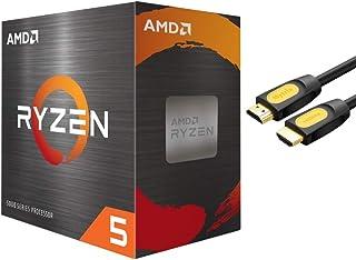 AMD-Ryzen 5 5600X 4th Gen 6-core Desktop Processor with Wraith Stealth Cooler, 12-Threads Unlocked, 3.7 GHz Up to 4.6 GHz,...