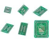 MCIGICM 30pcs PCB Board Kit SMD Turn to DIP Adapter Converter Plate FQFP 32 44 64 80 100 HTQFP QFN48 SOP SSOP TSSOP 8 14 16 20 28
