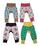 MyLeeni, Pumphose'Monkey Pants' Tiere, Zoo, Einhorn, Esel, Herze, Gr. 62, blau, rosa, grün, Mädchen, Junge