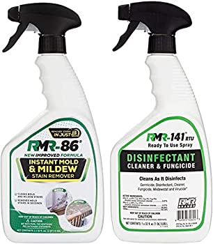 RMR Brands Complete Mold Killer & Stain Remover Bundle - Mold and Mildew Prevention Kit Disinfectant Spray Bathroom Cleaner Includes 2 - 32 Ounce Bottles