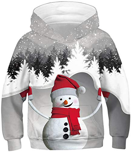 Un pull de Noël avec un paysage d'hiver