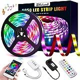 Elfeland LED Streifen 5M LED Strip RGB 5050SMD 150 Led Bänder, LED Stripes steuerbar via App...