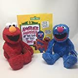 Sesame Street Kohls Cares Elmo and Grover Plush Toy with Book Bundle - Book Another Monster at the End of this Book
