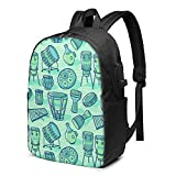Drums Percussion Backpack Travel Bag Casual Daypack With Usb Charging Port