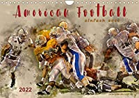 American Football - einfach cool (Wandkalender 2022 DIN A4 quer): American Football, Teamsport der Extra-Klasse - beeindruckende Bilder in Wasserfarben-Technik. (Monatskalender, 14 Seiten )