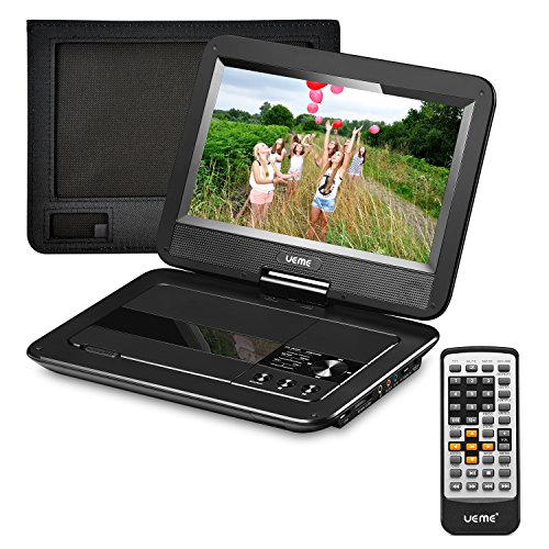 UEME Portable DVD Player with 10.1 inches LCD Screen, Car Headrest Mount Holder, Remote...
