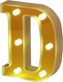 yellow letter d