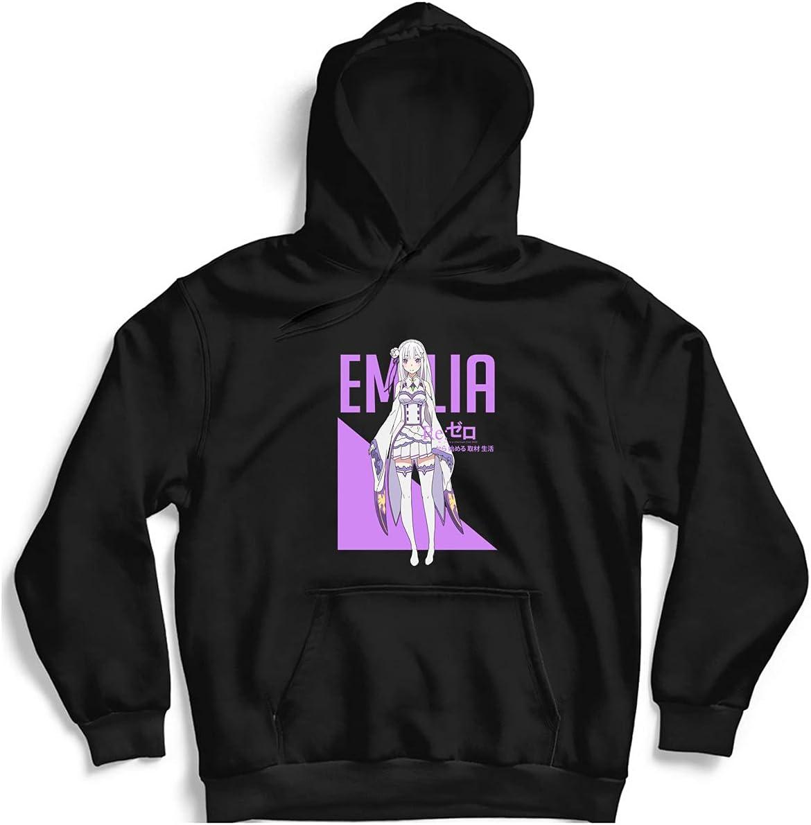 Animer and price revision Emilia Rezero Typography 2 Classic Women Hoodie Men Max 90% OFF U For
