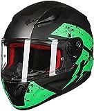 GPFFACAI casco integral moto mujer Casco de motocicleta retro casco integral, casco de ciclomotor, casco de scooter, casco de motocicleta, casco de motocicleta todoterreno con gafas antivaho(Size:2X-L