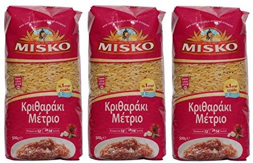 3x 500 g Set Reisnudeln Mittel aus Griechenland Hartweizennudeln Hartweizen griechische Reis Nudeln 1,5 kg + Probiersachet Olivenöl aus Kreta a 10 ml