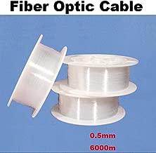 0.5mm 0.75mm 1.0mm 1.5mm 2mm 2.5mm 3mm PMMA Led Optic Fiber Cable Light End Glow Fibra Optica Ceiling Kit DIY Decoration Market (0.5mm 6000M)