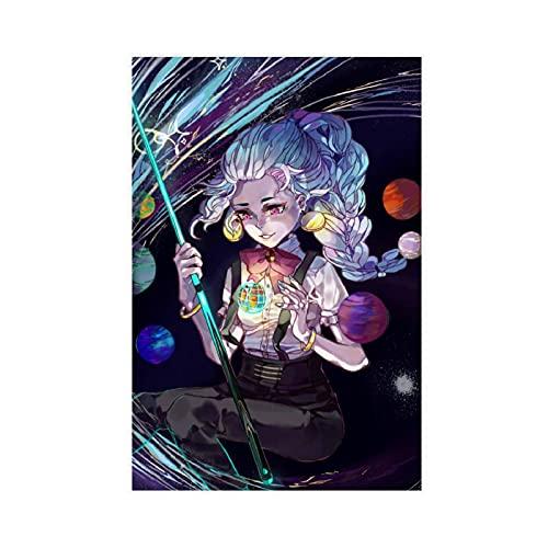 Poster du manga Death Parade 10 sur toile pour décoration de chambre à coucher, de sport, de bureau, de salle de bain, sans cadre : 40 x 60 cm