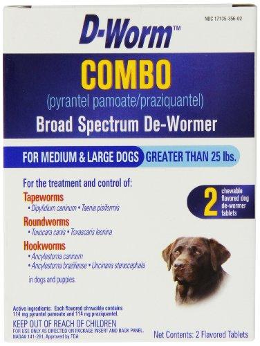 D-Worm Combo Broad Spectrum De-Wormer for Dogs