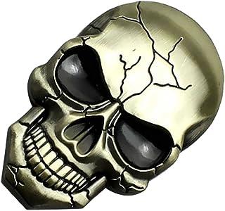 VICASKY Carro Crânio 3D de Carro de Metal Emblema Emblema Autocolante Decalque Do Crânio Do Dia Das Bruxas Acessórios Do C...