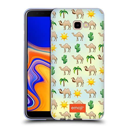 Head Case Designs Oficial Emoji® Camello Animales Carcasa de Gel de Silicona Compatible con Samsung Galaxy J4+ / Plus