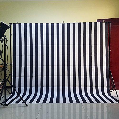 FUS kerstfeest muur decoratie zwart en wit strepen behang bruiloft verjaardag muur rekwisieten 8X8FT