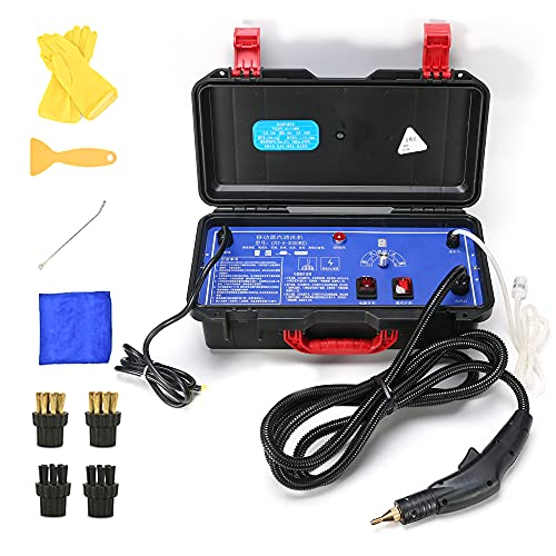 Montloxs 100-120 ℃ Limpiador a vapor de alta presión y alta temperatura Máquina de limpieza doméstica de 3000 W para aire acondicionado Pisos de ventilador de cocina
