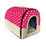 ANPPEX Igloo Dog House, Portable Cat Igloo Bed with Removable Cushion,...