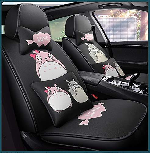 WellingA Totoro Sitzbezüge Auto Hochwertiges Sitzkissen Aus Polyester Mode Cartoon Totoro Autositzkissen,003