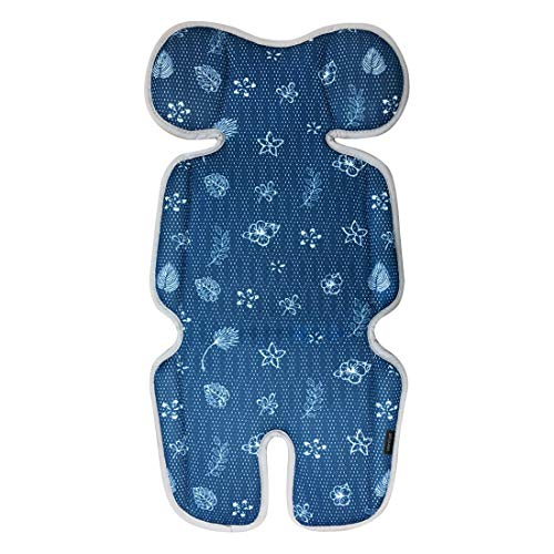 VENTIYO Baby Stroller Liner Seat Pad Mat with Breathable 3D Mesh - Floral Sea
