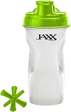 Fit and Fresh 787JAXXGRYWEB Jaxx 28oz Bottle with Collapsible Bottom Compartment Shaker Cup 28 Ounces
