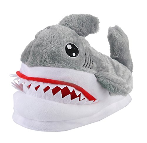 La Vogue Zapatillas de Estar por Casa para Mujer Hombre Chanclas Disfraces Tiburón Talla 35-42cm