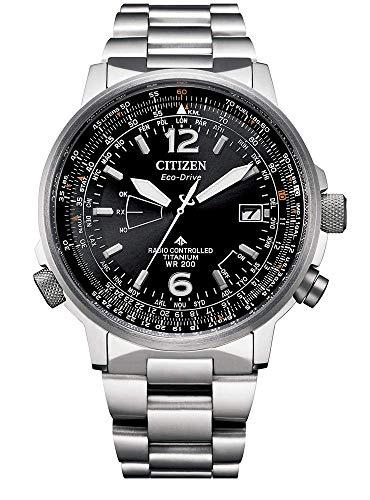 Citizen Pilot ST CB0230-81E - Reloj de pulsera solar para hombre (titanio, cristal de zafiro)