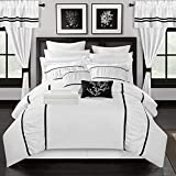 Chic Home Mayan 24 Piece Bed in a Bag Comforter Set, Queen, White