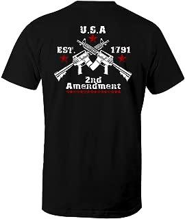 Crossed Guns Rights to Bear Arms 2nd Amendment Men's T Shirt