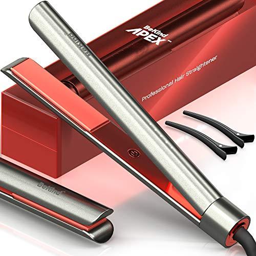 Bekind Apex 2in1 Hair Straightener Flat Iron Straightener and Curler Flat Iron for All Hair Styles 15s Fast Heating 5 Temperature Settings Gift for Girls Women  Gray