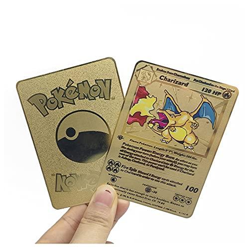 Cartas De Pokemon De Metal Nuevo Juego De Cartas Coleccionables Regalos para Niños (Size : Water Arrow Turtle)