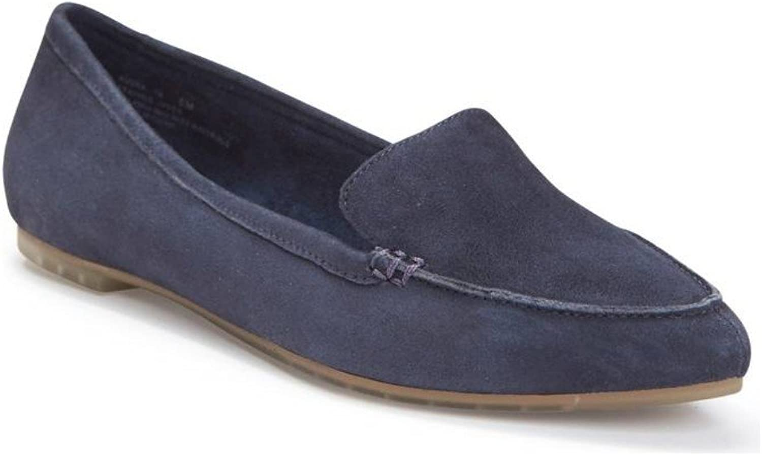 Me Too Audra - Dark Navy Suede Pointed Toe Loafer