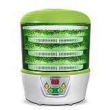 HYLDM Brotador de Semillas automático de 3 bandejas  Fabricante de Yogurt  Máquina para Hacer Vino de arroz  Sin BPA  Control de Temperatura  Temporizador de Apagado automático