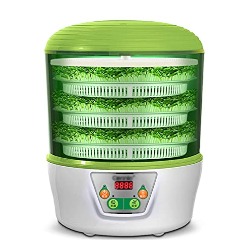 HYLDM Germinatore di Semi Automatico a 3 vassoi  Yogurtiera  Macchina per la Produzione di Vino di Riso  Senza BPA  Controllo della Temperatura  Timer spegnimento Automatico
