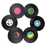 Txian 6 Retro Vinyl LP Schallplatten Stil Untersetzer Tasse Matte Rutschfeste Isolierte Kaffee...