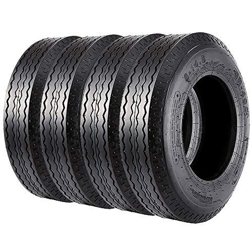 VANACC Heavy Duty Trailer Tires 8-14.5 Highway 8x14.5 Tires Load Range G 14PR, Set of 4